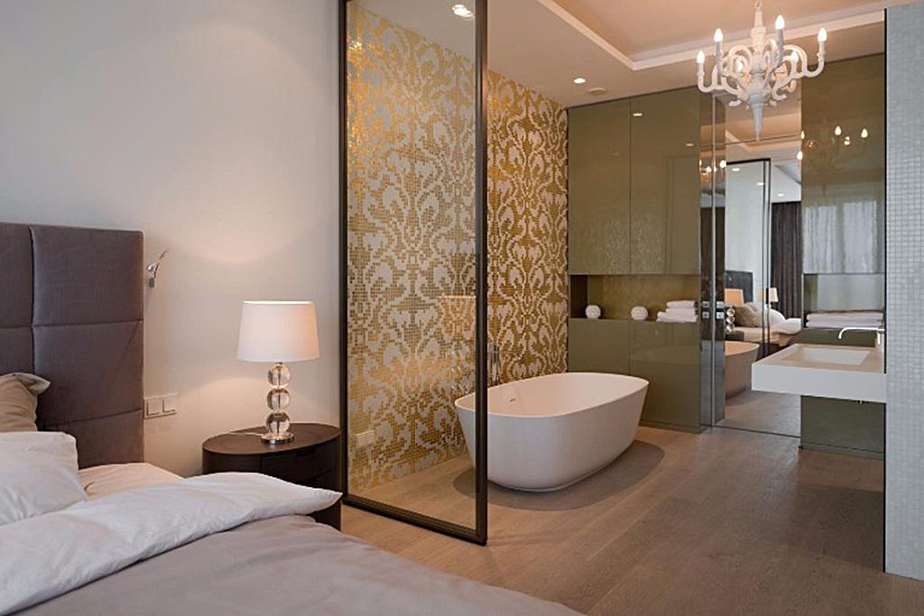 Open space realizzare la camera da letto con bagno blog - Comporre un bagno ...