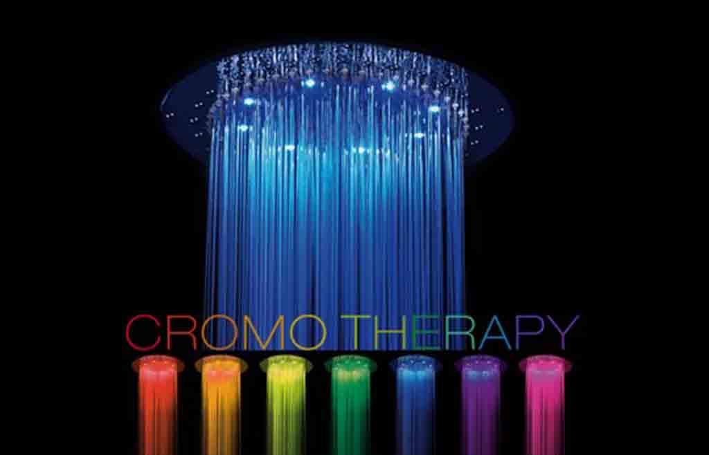 I colori del benessere in bagno i vantaggi della - Luci per doccia ...