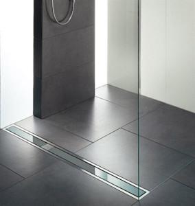 Canaline di scarico doccia in acciaio inox un nuovo modo di scaricare l 39 acqua blog stile bagno - Piatto doccia piastrellabile ...