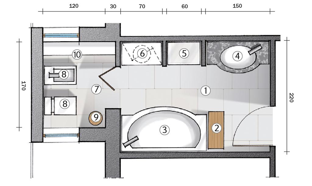 Preventivi per la ristrutturazione del bagno come for Idee di estensione a livello diviso