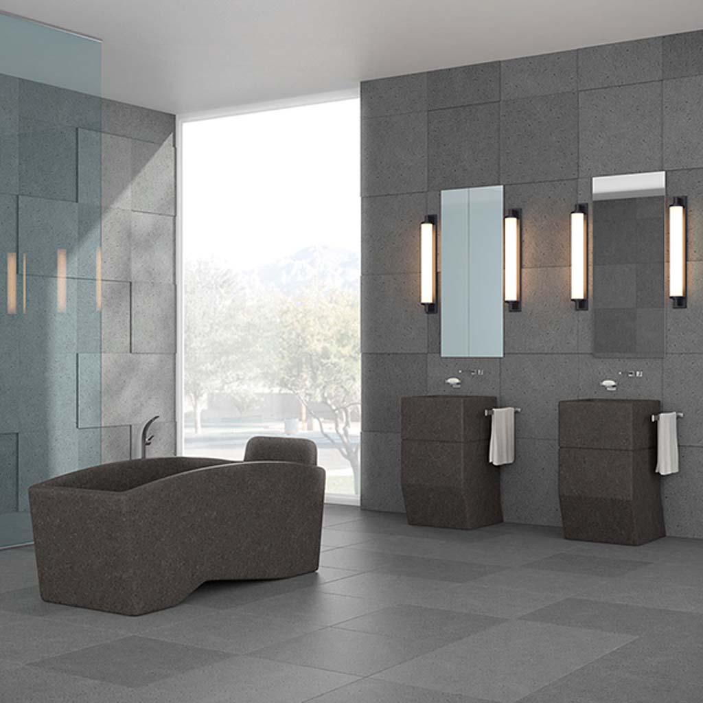 Il bagno in sicilia ricrea un arredamento vulcanico con la pietra lavica blog stile bagno - La roccia arredo bagno ...