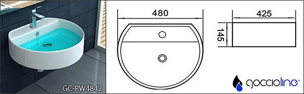 Lavabo design rimini in ceramica di alta qualit stile for Lavabo rimini