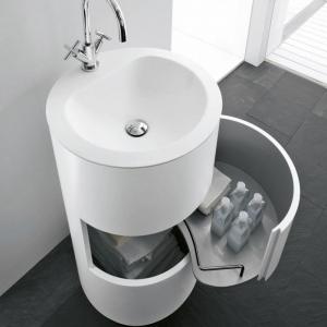 Mobile da bagno moon free standing con lavabo in corian - Mobile bagno moon ...