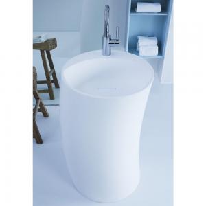 Lavabo Free Standing Design RIGHT in Tecnoril® Bianco Opaco