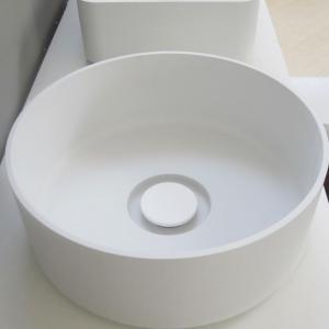 Lavabo Design ARKE da Appoggio in Mineral Solid Bianco Opaco