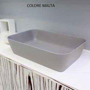 Lavabo Rettangolare da Appoggio in Solitex COLOR