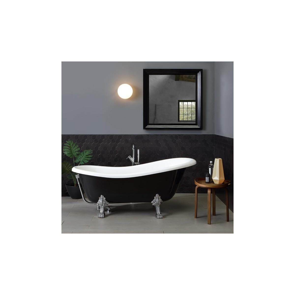 Vasca da bagno nera in stile retr con piedini cleopatra 167cm - Vasca da bagno retro ...