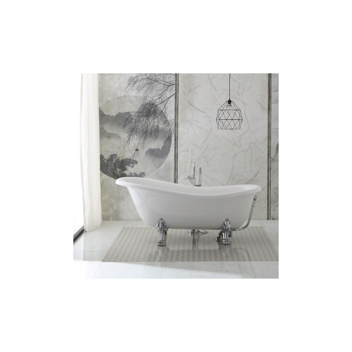 Vasca da bagno stile retr con piedini modello regina 167cm - Vasca da bagno piedini ...