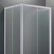 Box Doccia White Quadrato o Rettangolare a Tre Lati con Cristalli 4mm Satinati
