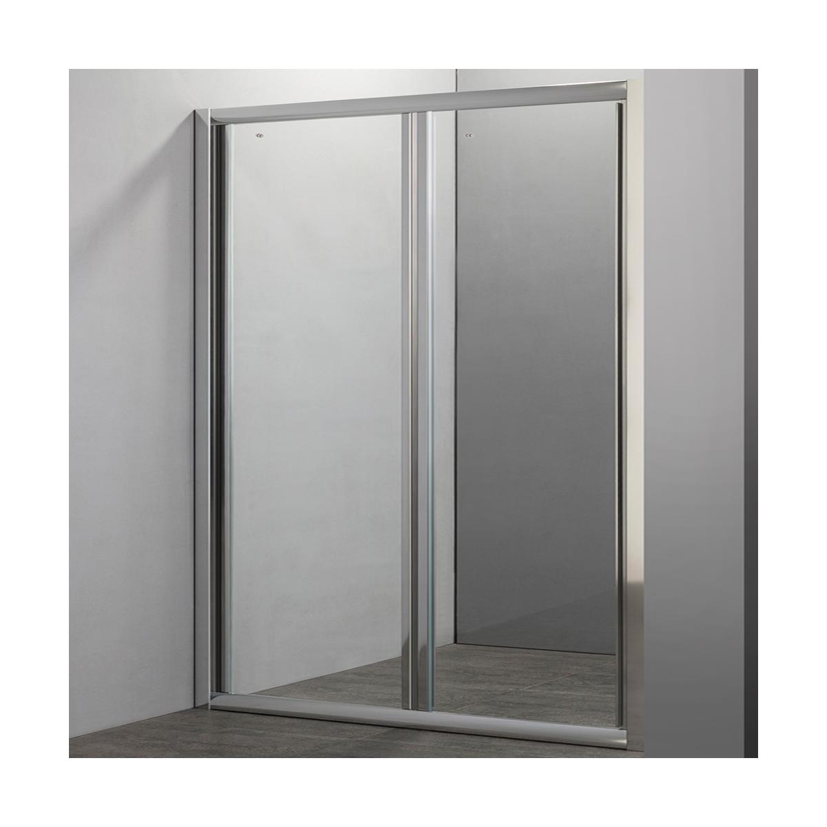 Porta doccia a soffietto in cristallo 5mm 70 80 90 100 - Porta per doccia a nicchia ...