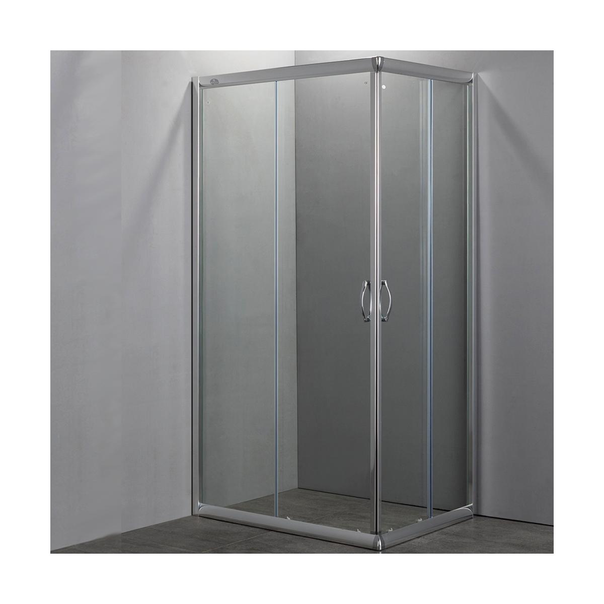 Box doccia easy doppia porta scorrevole cristallo 6mm rettangolare - Porta in cristallo scorrevole ...