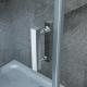 Porta Doccia con Anta Battente Gemma 8mm Trasparente 80 - 90 - 100 - 120