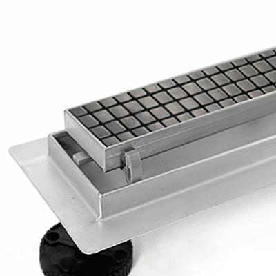 Canalina di Scarico Doccia Piastrellabile INOX - 50 - 60 - 70 - 80 - 90 - 100cm