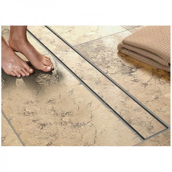 Canalina scarico doccia reversibile piastrellabile in acciaio INOX canaletta doccia pavimento