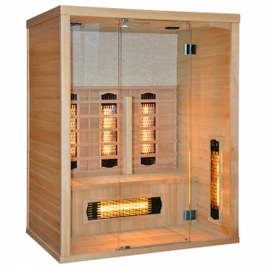 Sauna in legno a Infrarossi STONE per 3 persone 150x110