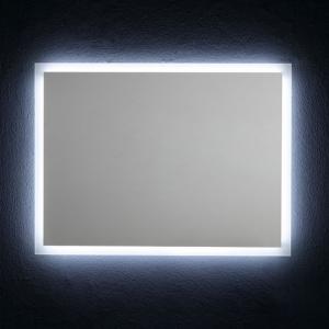 Specchio da Bagno Reversibile con Retroilluminazione Perimetrale a Led 80x60cm