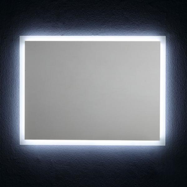 Specchio Bagno Retroilluminato Prezzi.Specchio Da Bagno Reversibile Con Retroilluminazione A Led 80x60cm