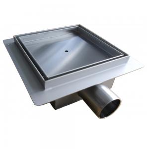 Canalina di Scarico Doccia Piastrellabile in Acciaio INOX quadrata 13,5x13.5 - 15x15 - 20x20cm