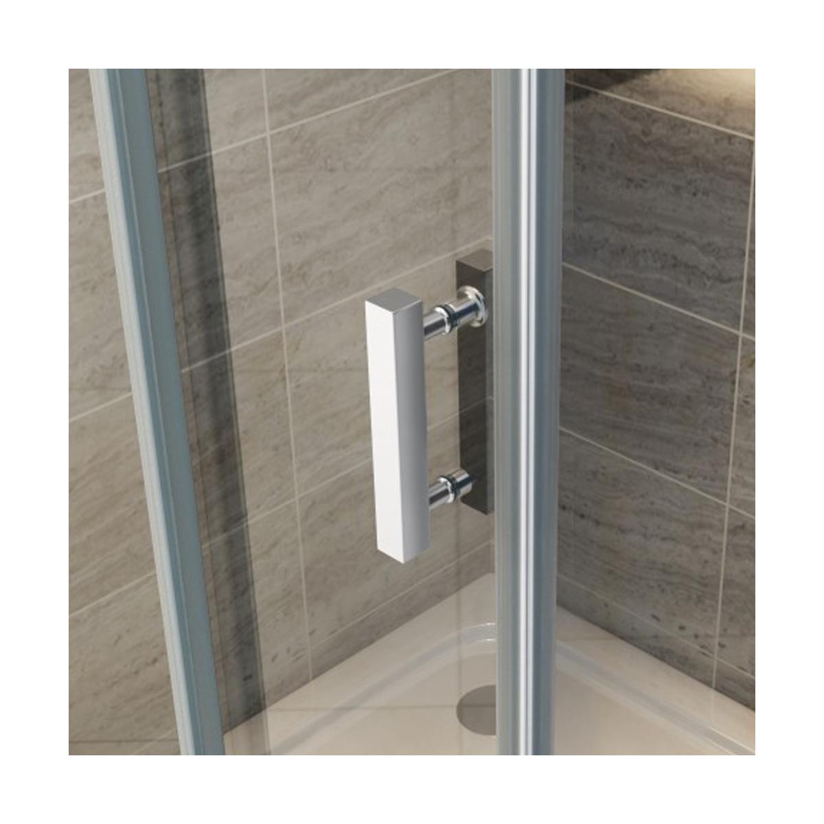 Porta doccia nicchia scorrevole ambra cristallo trasparente 8mm - Porta in cristallo scorrevole ...