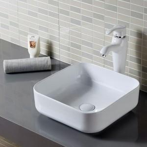 Lavabo ROMA da appoggio in Ceramica Bianca