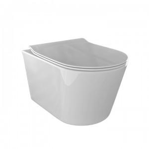 WC e Bidet OCEANO Sospesi in ceramica di colore bianco