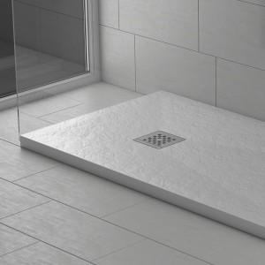 Piatto doccia mineralmarmo effetto pietra bianco Corallo