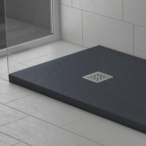 Piatto doccia mineralmarmo effetto pietra antracite | Dolomite