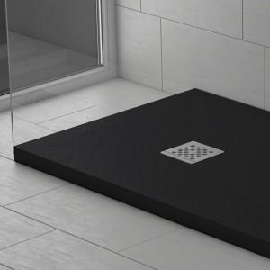 Piatto doccia mineralmarmo effetto pietra nero | Dolomite