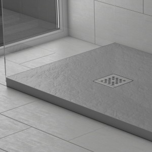 Piatto doccia mineralmarmo effetto pietra grigio Corallo