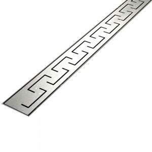 Canalina di Sarico Doccia GREEK in acciaio INOX - 50- 60 - 70 - 80 - 90 - 100
