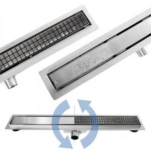 Canalina di Scarico Doccia reversibile da Piastrellabile a INOX - 50 - 60 - 70 - 80 - 90 - 100cm