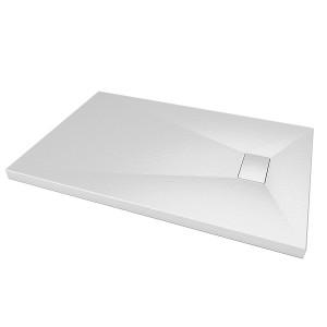 Piatto Doccia Ultraslim GLASSTONE in SMC effetto Pietra Ardesia - Colore Bianco