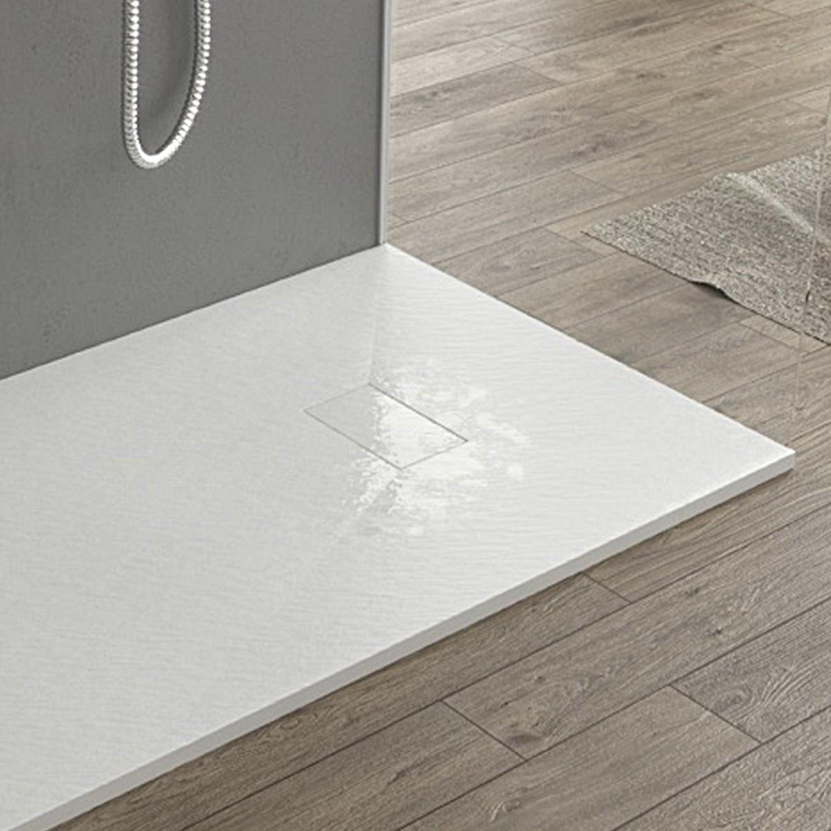Cabina Doccia In Vetroresina.Piatto Doccia Glasstone Essence In Smc Ultraslim Colore Bianco
