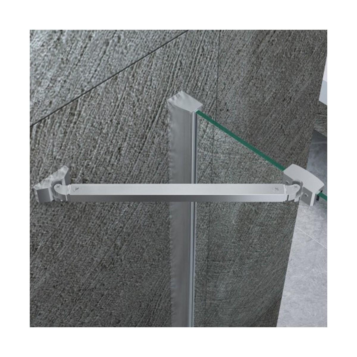 Box Doccia porta battente interna ed esterna vetro 8mm ...