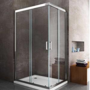 Box Doccia doppia porta scorrevole PERLA cristallo trasparente anticalcare - 6mm - H195cm