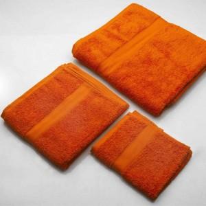 Set di Asciugamani per il bagno colore arancio