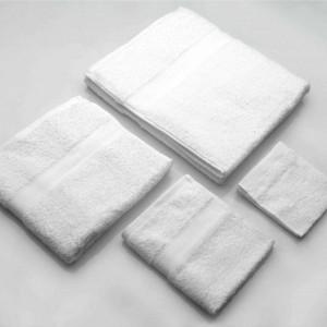 Set di Asciugamani per il bagno in cotone colore bianco
