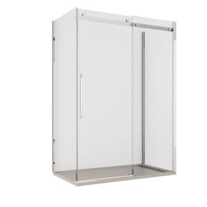 Box doccia porta scorrevole tre lati cristallo trasparente 8mm anticalcare | Dolomite