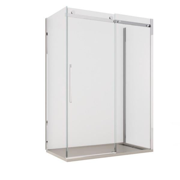 Box doccia porta scorrevole tre lati cristallo trasparente 8mm anticalcare Dolomia