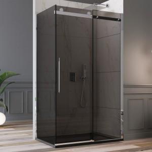 Box doccia porta scorrevole vetri anticalcare fumè 8mm | Dolomite