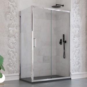 Box Doccia porta scorrevole con vetri trasparenti anticalcare 6mm h195cm | Agata
