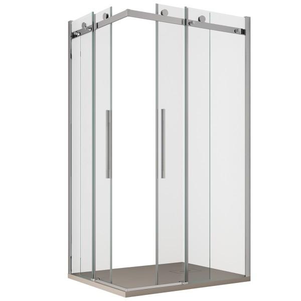 Box Doccia doppia porta scorrevole Trasparente 8mm Anticalcare   Chiara