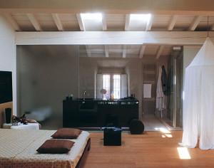 Bagno In Camera Con Vetrata : Open space: realizzare la camera da letto con bagno blog stile bagno