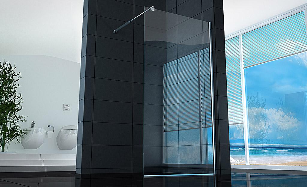 Ideare la zona doccia con le pareti Walk-in