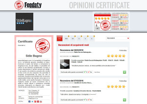 Scheda delle recensioni effettuate dai clienti del sito.