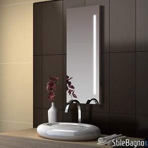 Illuminare il bagno con lo specchio blog stile bagno - Specchio con lampade intorno ...
