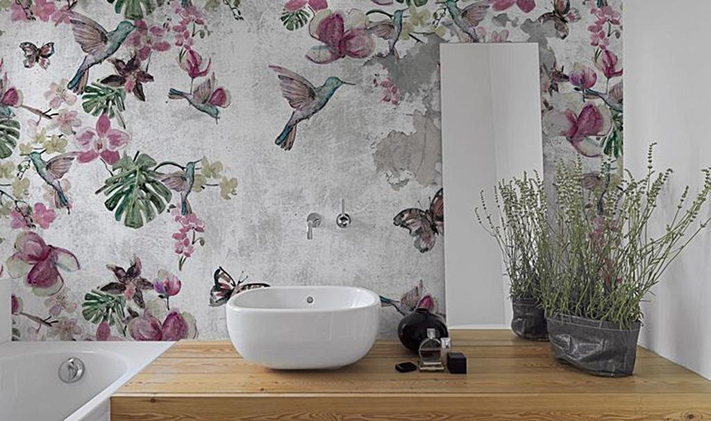 Carta da parati nel bagno perch no blog stile bagno - Spiata nel bagno ...