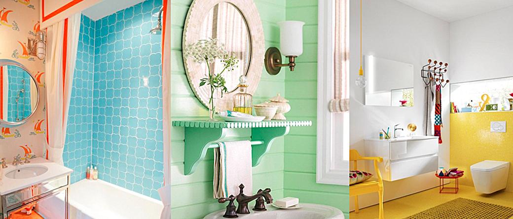 Arredare il bagno con i colori dell'estate