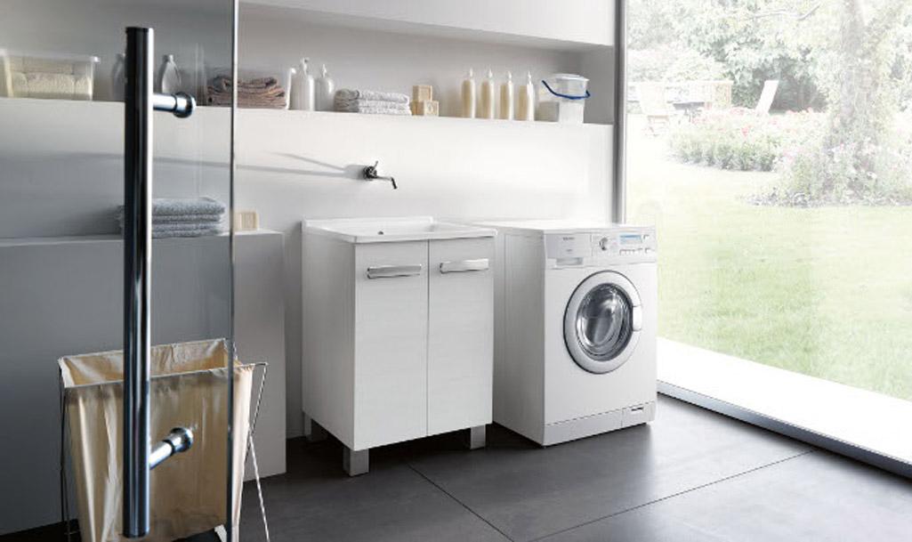 Zona lavanderia in bagno: consigli per l'arredo