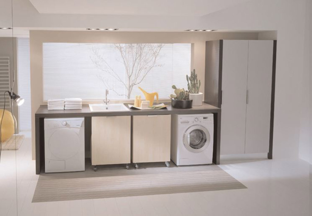 Zona lavanderia in bagno consigli per l arredo blog stile bagno - Lavatrice in bagno soluzioni ...